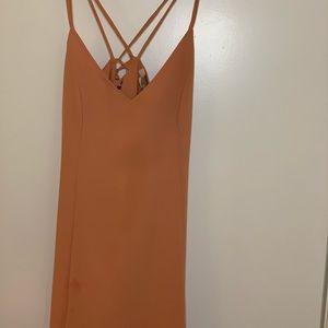 Coral Forever 21 Contemporary Mini Dress